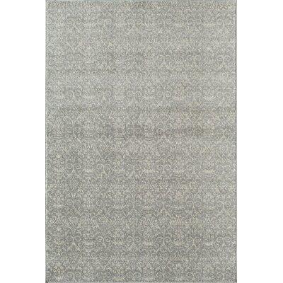 Grady Grey/Ivory Area Rug Rug Size: Round 53
