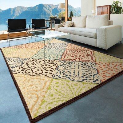 Nora Beige Indoor/Outdoor Area Rug Rug Size: 78 x 1010