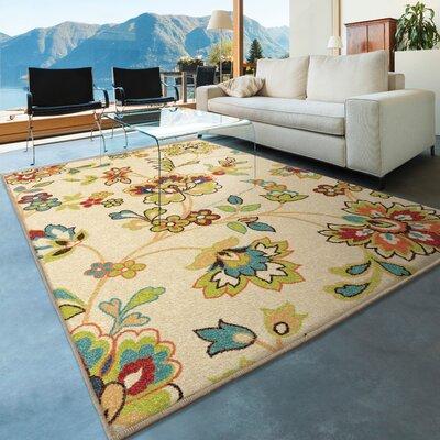 Oscar Beige Indoor/Outdoor Area Rug Rug Size: 78 x 1010