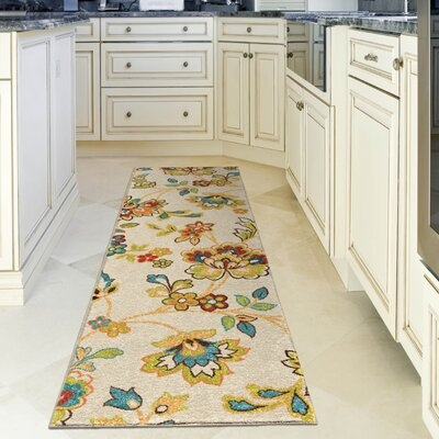 Oscar Beige Indoor/Outdoor Area Rug Rug Size: Runner 23 x 8