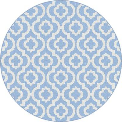 Sidi Blue Area Rug Rug Size: Round 53