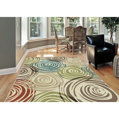 Weishaar 3 Piece Ivory Area Rug Set
