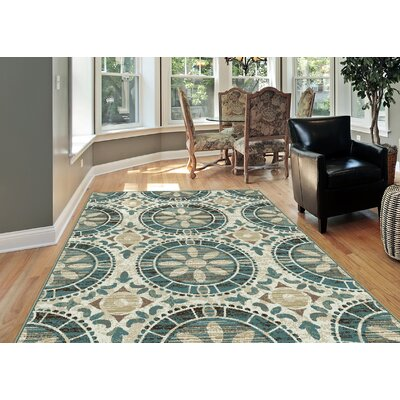 Dripping Springs Ivory Area Rug Rug Size: Rectangle 53 x 73