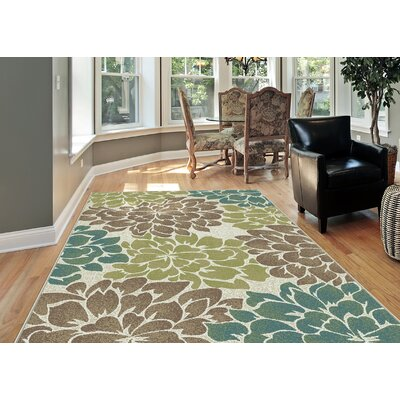 Travis Ivory Area Rug Rug Size: Rectangle 53 x 73