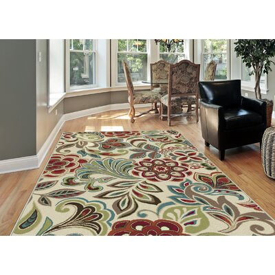 Brightling Ivory Area Rug Rug Size: Rectangle 8 x 10