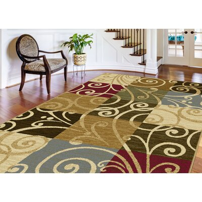 Colesville 3 Piece Green/Beige Area Rug Set