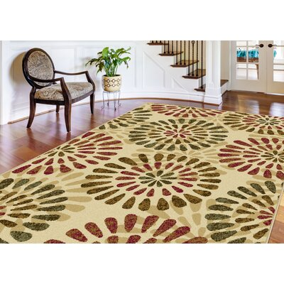 Strope 3 Piece Ivory Area Rug Set