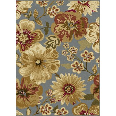 Gulledge Blue Area Rug Rug Size: Rectangle 5 x 7