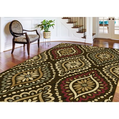 Crawford 3 Piece Brown Area Rug Set