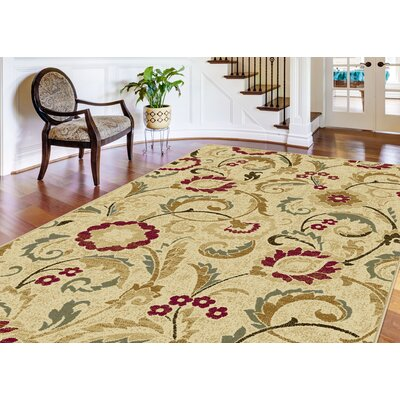 Gulledge 3 Piece Ivory Area Rug Set
