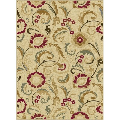 Gulledge Ivory Area Rug Rug Size: Rectangle 5 x 7