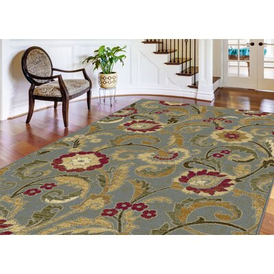 Gulledge 3 Piece Blue Area Rug Set