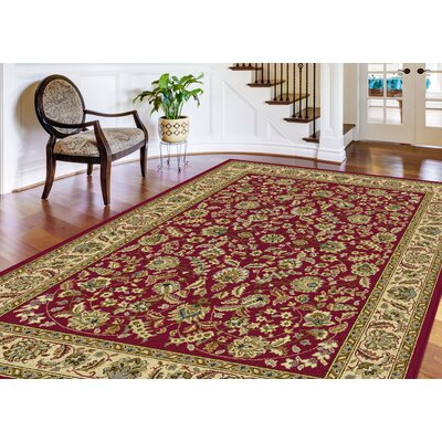 Larios 3 Piece Red Area Rug Set