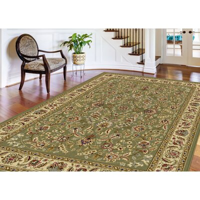 Larios 3 Piece Green Area Rug Set