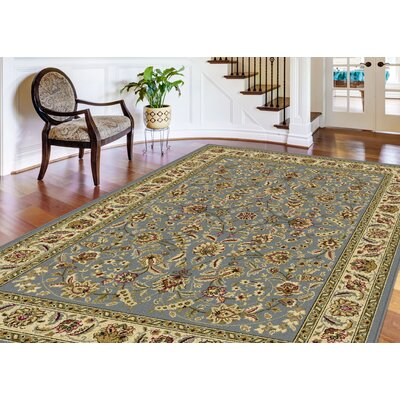 Larios 3 Piece Blue/Beige Area Rug Set