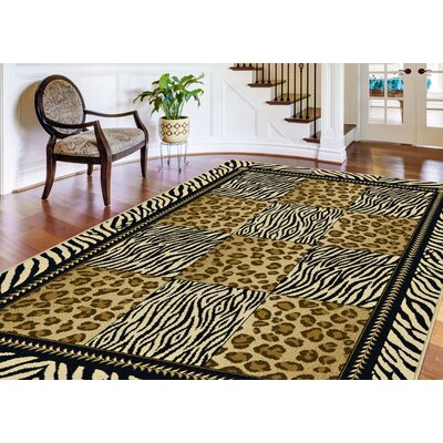 Colesville 3 Piece Brown/Black Area Rug Set