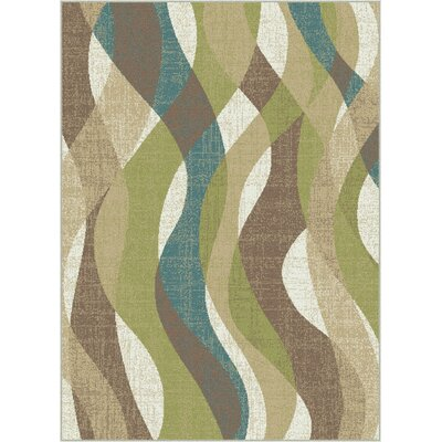 OMalley Ivory Area Rug Rug Size: Rectangle 53 x 73