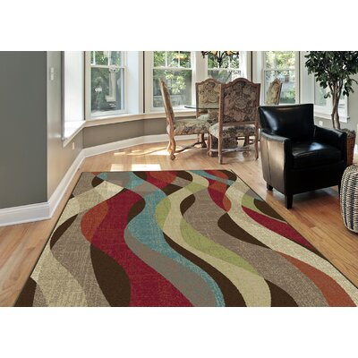 OMalley Brown Area Rug Rug Size: Rectangle 53 x 73