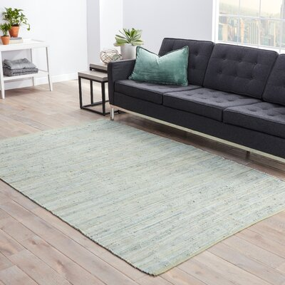 Keiu Hand-Woven Gray Area Rug Rug Size: Rectangle 5 x 8
