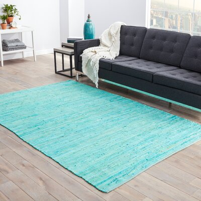 Newman Hand-Woven Blue Area Rug Rug Size: 2 x 3