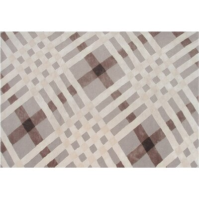 Stella Hand-Tufted Brown/Grey Area Rug Rug Size: 5 x 8