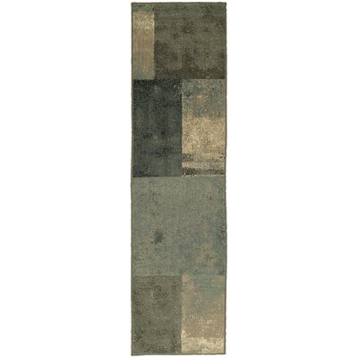 Larson Brown/Green Area Rug Rug Size: Runner 110 x 73