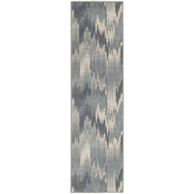Clementine Blue Area Rug Rug Size: Runner 110 x 73