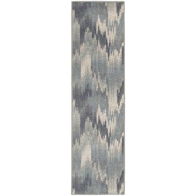 Larson Blue Area Rug Rug Size: Runner 11 x 73
