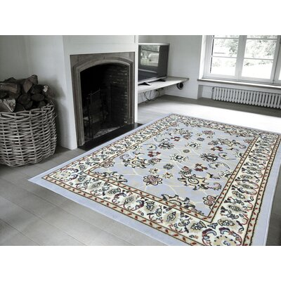 Eldred Gray Area Rug Rug Size: 5 x 7