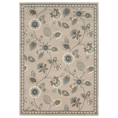 Aldan Stone/Blue Area Rug Rug Size: Rectangle 33 x 55