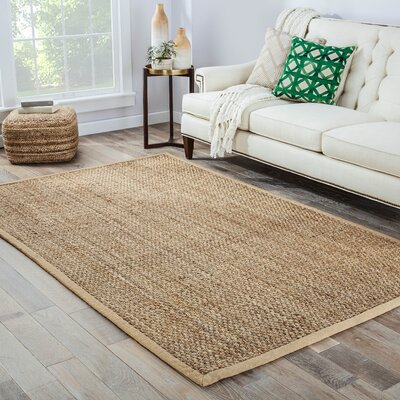 Beni Hand-Woven Gold Area Rug Rug Size: 8 x 10