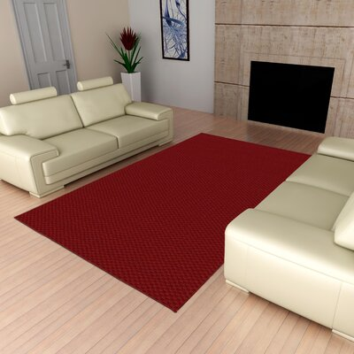 Esther Red Area Rug Rug Size: Rectangle 9 x 12
