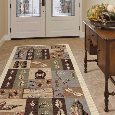 Tilson Brown Area Rug Rug Size: Rectangle 8 x 11