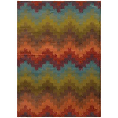 Bienville Orange Area Rug Rug Size: Rectangle 10 x 13