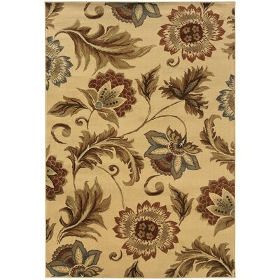 Harper Beige Area Rug Rug Size: Rectangle 1'10