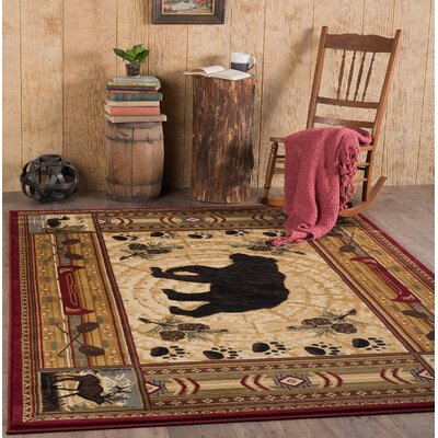 Russel Brown Area Rug Rug Size: 710 x 103