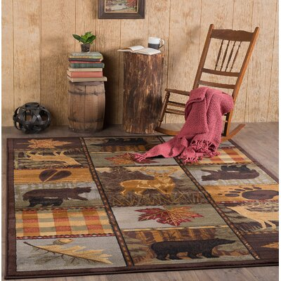 Victor Brown Area Rug Rug Size: 710 x 103