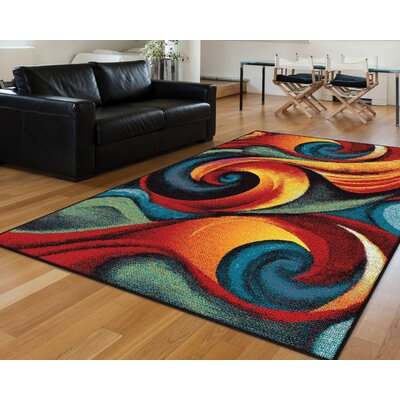 Weisman Red/Blue Area Rug Rug Size: Rectangle 5 x 8