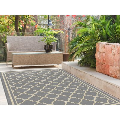 Martinique Gray Indoor/Outdoor Area Rug Rug Size: Rectangle 53 x 73