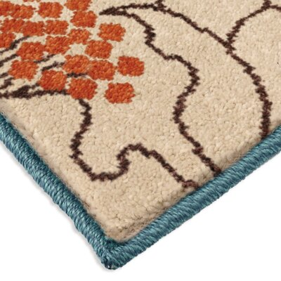 Stella Blue Indoor/Outdoor Area Rug Rug Size: Rectangle 52 x 76
