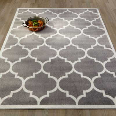 Garlyn Gray Area Rug Rug Size: Rectangle 53 x 7