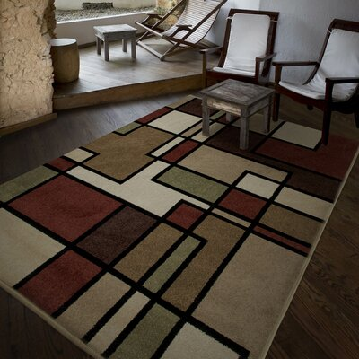 Gabriel Brown Indoor/Outdoor Area Rug Rug Size: Rectangle 52 x 76
