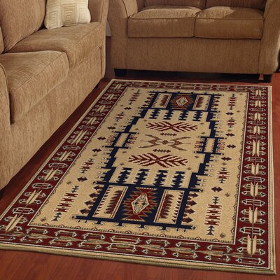 Sharpsville Brown Area Rug Rug Size: 53 x 76