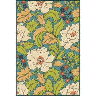 Stella Blue Indoor/Outdoor Area Rug Rug Size: Rectangle 310 x 55