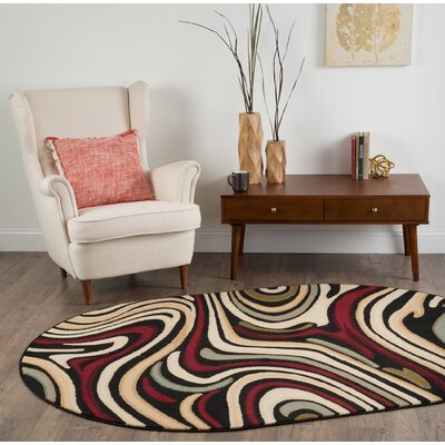 Colesville Red/Brown Area Rug Rug Size: 76 x 910