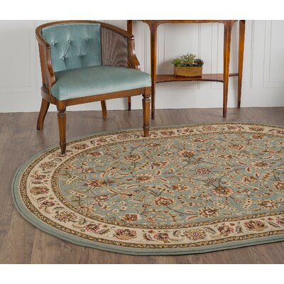 Larios Blue/Beige Area Rug Rug Size: Rectangle 5 x 7