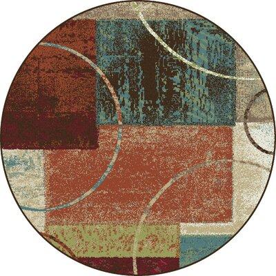 Weishaar Brown/Beige Area Rug Rug Size: Round 6