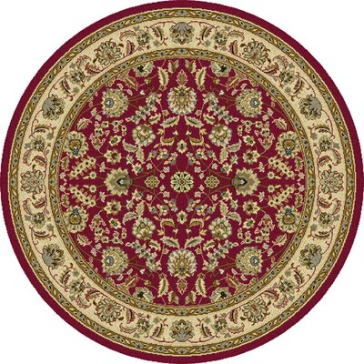 Colesville Red Area Rug Rug Size: Round 53