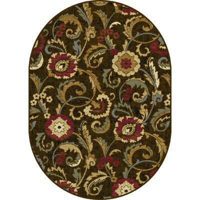 Gulledge Area Rug Rug Size: Oval 53 x 73