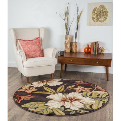 Murphy Brown Area Rug Rug Size: Round 53